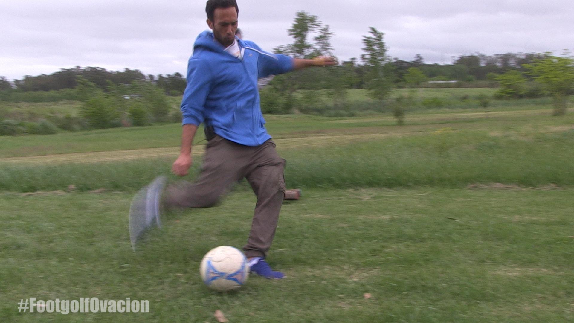 "Gonzalo ""Nano"" Ramos se animó al FootGolf"