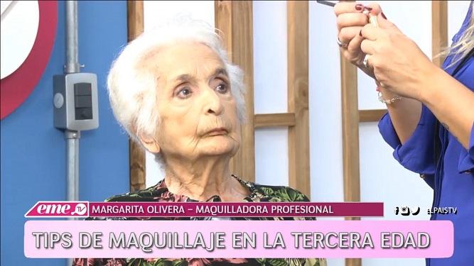 Mirá el resultado de maquillar a una mujer de 96 años